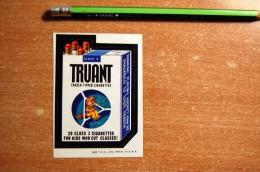 Rare Vintage 1973-1976  TRUANT Wacky Card From Series 6 Sticker Decal - Non Classificati