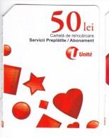 Moldova   Moldavie  Moldau ,  Prepaid Phonecard -  Unlte  ,  50 Lei , Paper , Used - Moldova