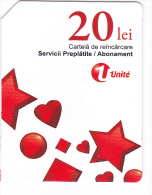 Moldova   Moldavie  Moldau ,  Prepaid Phonecard -  Unlte  ,  20 Lei , Tipe 3 , Paper , Used - Moldova