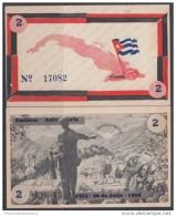 1958-BK-6 CUBA BONO DEL MOV 26 JULIO. EMISION ANIVERSARIO 2$ UNC. FIDEL CASTRO. - Cuba