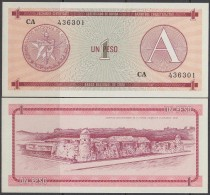 1985-BK-3 CUBA 1$ CURRENCY CERTIFICATE. CERTIFICADO DE DIVISAS A. UNC PLANCHA. 1985. - Cuba
