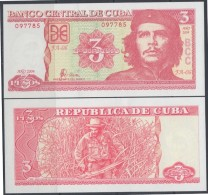 2004-BK-101 CUBA. 3$ ERNESTO CHE GUEVARA. 2004 UNC. - Cuba