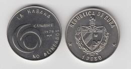 1979-MN-2 CUBA. KM 191.1$. 1979. COPPER- NICKEL. SEXTA CUMBRE DE PAISES NO ALINEADOS. - Cuba