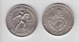 1983-MN-3 CUBA. KM 174. 1$. 1983. COPPER- NICKEL. UNC. OLIMPIC GAMES. OLIMPIADAS DE LOS ANGELES. LANZAMIENTO DE DISCO. - Cuba