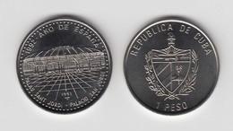 1992-MN-6 CUBA. KM 403. 1$. 1992. COPPER- NICKEL. SPAIN YEAR. AÑO DE ESPAÑA. PALACIO DE SAN JORDI. BARCELONA. - Cuba