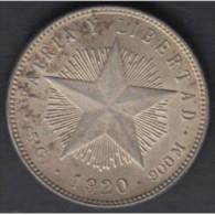 1920-MN-10 CUBA. KM 13.2 SILVER 20c STAR 1920. ESTRELLA RADIANTE. XF BRILLO ORIGINAL. - Cuba