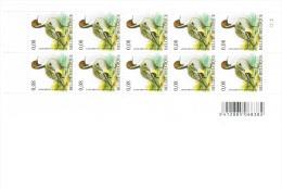 Buzin.  Zegels.  Oiseaux. Pijlstaart - Canard Pilet. Feuille De 10 - 1985-.. Oiseaux (Buzin)