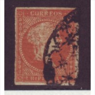 1855-10. CUBA ESPAÑA SPAIN ANTILLAS. 1855. 2r NARANJA. Ed.3. - Cuba