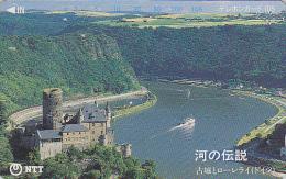 Télécarte Japon / NTT 331-045 - Site ALLEMAGNE / CHATEAU DE KAUB BURG & LORELEI / GERMANY - Japan Phonecard - Paysages