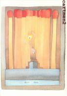 ILLUSTRATEUR FOLON A PREVERT AQUARELLE ET COLLAGE 1980 ALLUMETES - Folon