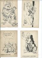 Lot De Cartes Humoristiques.A Vérifier,Finlande,pour Les Invalides De Guerre.4 Cartes. - Cartes Postales
