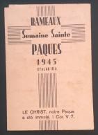 Petit Programme STALAG III A   Rameaux Semaine Sainte Pâques 1945 Luckenwalde - 1939-45
