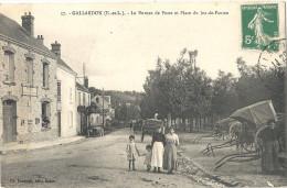 GALLARDON (E.-et-L.) - Le Bureau De Poste Et Place Du Jeu-de-Paume - Autres Communes
