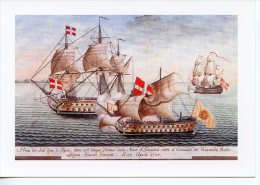 Ordre De Malte : Vaisseau St Jean Prise Du Soleil D´Or D´Alger Par Bailly Langon 20 Avril 1721 Eaux D´Oran - Warships