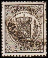 1869. 1 CENT. 14X14 (Michel: 14) - JF106602 - Period 1852-1890 (Willem III)