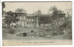 CPA PARIS 3° ARRONDISSEMENT - Square Et Mairie Du Temple - Paris (03)