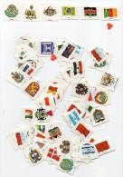 39259-ZE-ERINOPHILIE/VIGNETTES/LABELS/AUFKLEBER/ETICHETTE/ETIQUETAS -TIMBRES---Lot De 114-Tous Pays - Erinnofilia