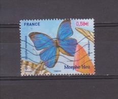 FRANCE / 2010 / Y&T N° 4497 : Papillon Morpho Bleu - Usuel - France