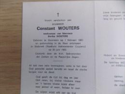 Doodsprentje Constant Wouters Zaventem 1/2/1883 Stabroek 30/6/1983 ( Bertha Wouters ) - Religion & Esotérisme