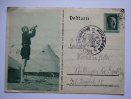 GERMANY Propagandapostkarte 1937 SONDERSTEMPEL NURNBERG MICHEL P264/07 - Germania