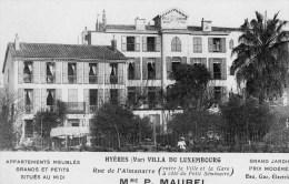 45Hy    83 Hyeres Villa Du Luxembourg Rue De L´Almanarre Appartements Meublés En TTBE - Hyeres