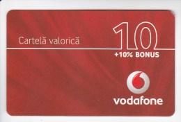Romania ,  Prepaid Phonecard -  Vodafone , 10 Euro , Paper , Used - Romania