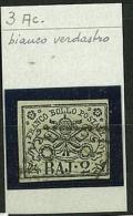 STATO PONTIFICIO - PAPAL STATE SINGLE STAMPS -  SASS. 3 Ac - 2 Baj  -  Bianco Verdastro - Usato - Etats Pontificaux