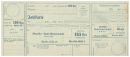 Original Post-Einlieferungsschein - 1929 - Zahlkarte , Berlin , Check , Post !!! - Schecks  Und Reiseschecks