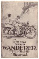 Original Werbung - 1929 - WANDERER 500ccm , Werk In Schönau B. Chemnitz , Motorrad , Motorräder !!! - Motorräder