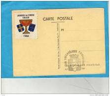 Vignette JT 1966 TOULON -sur Carte Illustrée JT Toulon 1966 TTB - Philatelic Fairs