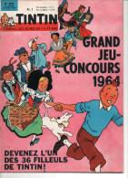 Journal Fascicule TINTIN 1964 édition Française N° 810 Du 30 Avril 1964 Couverture HERGE Tintin Alsacienne Concours - Tintin