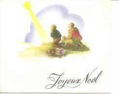 """CARTE SYSTEME A PLIAGE """"JOYEUX NOEL"""" CRECHE A VOIR !! REF 41933 - Christmas"""
