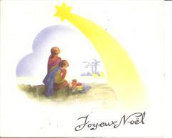"""CARTE SYSTEME A PLIAGE """"JOYEUX NOEL"""" CRECHE A VOIR !! REF 41934 - Christmas"""