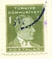 TURKEY  -  1931 To 1954  Kemal Attaturk Definitive  1k  Used As Scan - 1921-... Republic