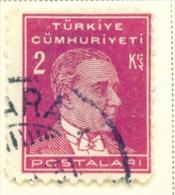 TURKEY  -  1931 To 1954  Kemal Attaturk Definitive  2k  Used As Scan - 1921-... Republic
