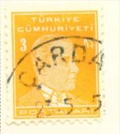 TURKEY  -  1931 To 1954  Kemal Attaturk Definitive  3k  Used As Scan - 1921-... Republic