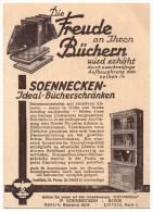 Original Werbung - 1929 - Soennecken , Bücherschränke , Schrank , Möbel , Bonn , Leipzig !!! - Möbel