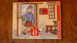 Puzzle NATHAN 45 Pièces 1995 - TINTIN L'ILE NOIRE - Puzzles