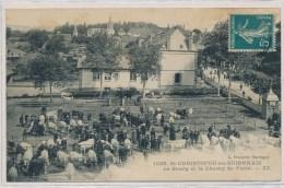 Saint Christophe En Brionnais (71 - Saone Et Loire) Le Bourg Et Le Champ De Foire ZZ édit. François Marcigny - Other Municipalities