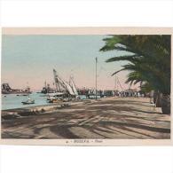 HLVTP7208-LFT4414 .Tarjeta Postal DE HUELVA.Barcos,puerto.Arboles En EL PASEO.Huelva.DIA DEL CARMEN - Huelva