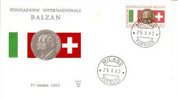 Balzan International Foundation ITALY 1962 FDC COVER - Italy