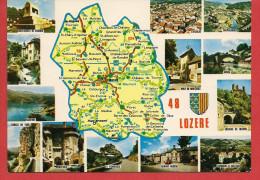 Carte Contour Géographique Du Département De La LOZERE - Unclassified