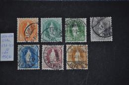 1882, 66A-72A (sans 68A) Oblitéré - 1882-1906 Wappen, Stehende Helvetia & UPU