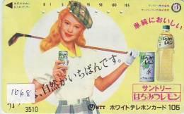 Telefonkarte Japan GOLF (1068) * Sport Phonecard Télécarte Japon - Sport