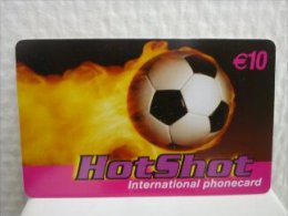 Prepaidcard Belgium Hot Shot Football Edition 10 Euro Rare - Belgium