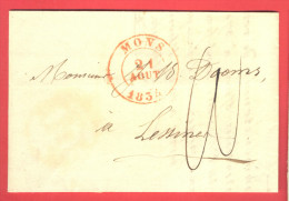 _5i-990: Volledige Brief: Verstuurd Uit MONS  21 AOUT 1834  > Lessinnes - 1830-1849 (Belgique Indépendante)