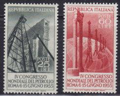 1228(4). Italy, 1955, World Oil Congress, MNH (**) Michel 941-942 - 6. 1946-.. Republic