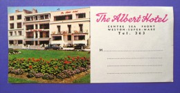 HOTEL MOTOR MOTEL ALBERT WESTON SUPER MA LONDON UK ENGLAND GREAT BRITAIN STICKER DECAL LUGGAGE LABEL ETIQUETTE AUFKLEBER - Hotel Labels