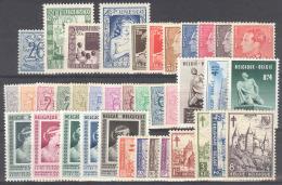 Volledig Jaar-Année Complete 1951 38w/v  Postfris-neuf - Bélgica