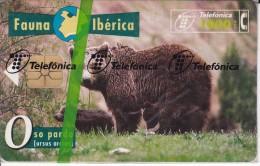 B-045 TARJETA DE ESPAÑA DE OSO PARDO II (NUEVA-MINT EN BLISTER) BEAR (FAUNA IBERICA) - Basisuitgaven